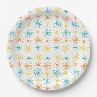 Nifty fifties - atoms and stars paper plate 9 inch paper plate