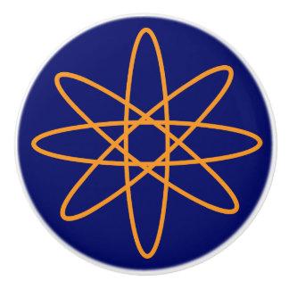 Nifty fifties - orange atom ceramic knob
