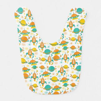 Nifty fifties - space age baby bib