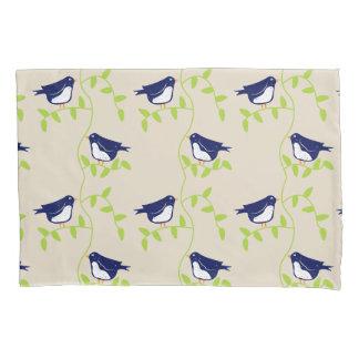 Nifty fifties - two blue birds pillow case