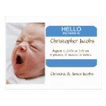 Nifty Nametag Birth Announcement For Boys
