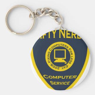 Nifty Nerds Basic Round Button Key Ring