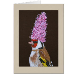 Nigel the European goldfinch card
