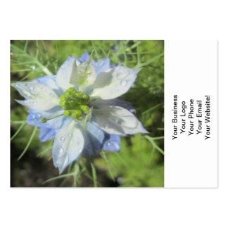 Nigella White Green Blue Rain Business Card Templates