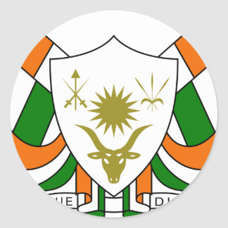 Niger Coat Of Arms Round Sticker