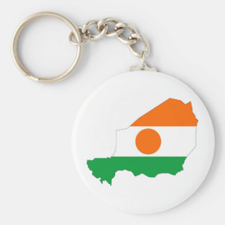 niger country flag map shape symbol basic round button key ring