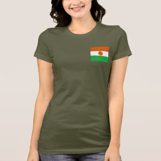 Niger Flag and Map dk T-Shirt