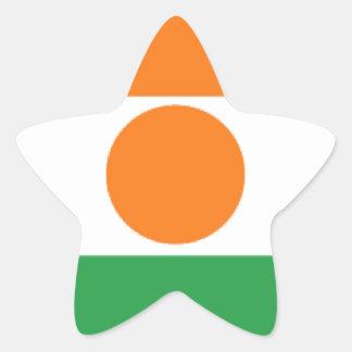 Niger Flag Star Stickers