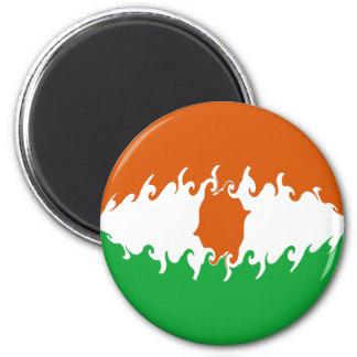Niger Gnarly Flag 6 Cm Round Magnet
