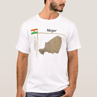 Niger Map + Flag + Title T-Shirt