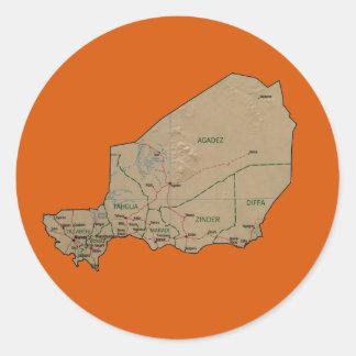Niger Map Sticker