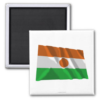 Niger Waving Flag Magnet