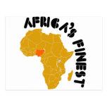 Nigeria, Africa map design Post Cards