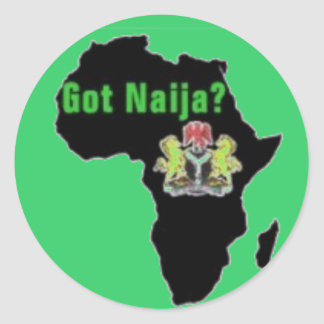 Nigeria , Africa T-Shirt and Etc Classic Round Sticker