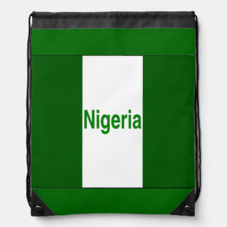 Nigeria Drawstring Backpacks