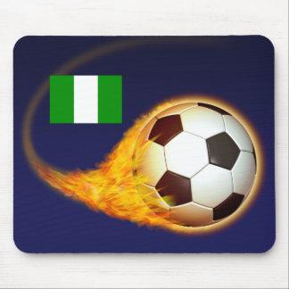 Nigeria Blazing Soccer Mouse Pad