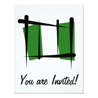 Nigeria Brush Flag 4.25x5.5 Paper Invitation Card