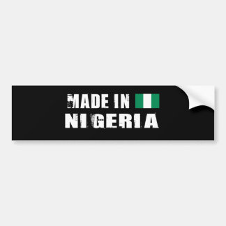 NIGERIA BUMPER STICKER
