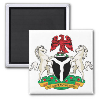 Nigeria Coat of Arms detail Magnet