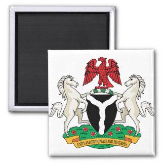 Nigeria Coat of Arms detail Square Magnet