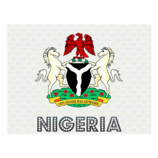Nigeria Coat of Arms Postcard