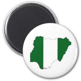 nigeria country flag map shape symbol 6 cm round magnet