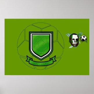 Nigeria crest soccer ball for football fans print