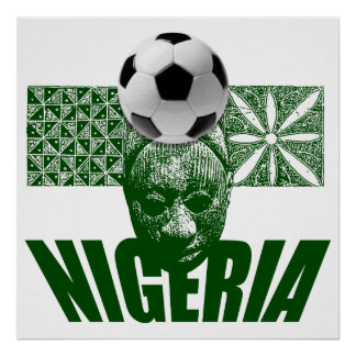 Nigeria cultural soccer football artwork gifts posters