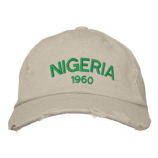 Nigeria Custom Distressed Baseball Cap