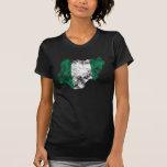 Nigeria Distressed Flag T Shirt