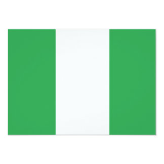 Nigeria Flag 13 Cm X 18 Cm Invitation Card