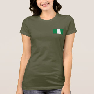Nigeria Flag and Map dk T-Shirt