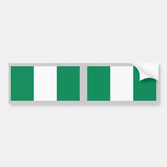 Nigeria Flag Bumper Sticker