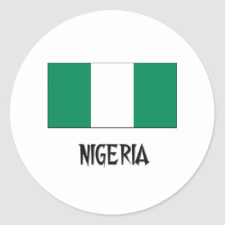 Nigeria Flag Classic Round Sticker