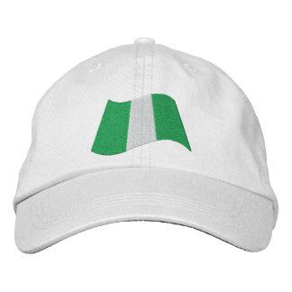 Nigeria Flag Embroidered Hat