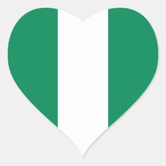 Nigeria Flag Heart Sticker