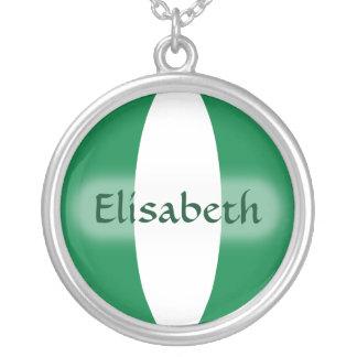 Nigeria Flag + Name Necklace
