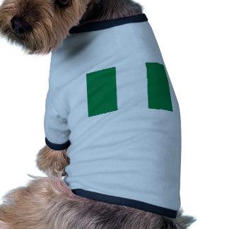 Nigeria flag pet shirt