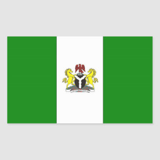 Nigeria Flag Rectangular Sticker