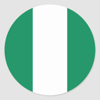 Nigeria Flag Round Stickers (pack)