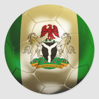 Nigeria Football Classic Round Sticker