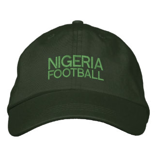 NIGERIA FOOTBALL EMBROIDERED BASEBALL CAP