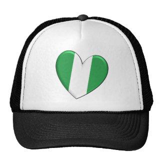 Nigeria Heart Flag Hat