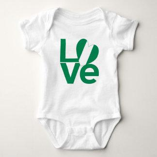 Nigeria LOVE Green Baby Bodysuit