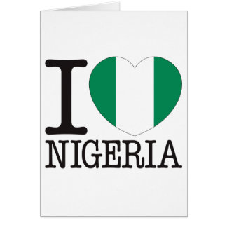 Nigeria Love v2 Greeting Card