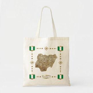 Nigeria Map + Flags Bag