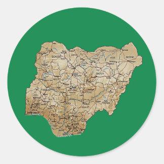 Nigeria Map Sticker