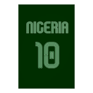 Nigeria No 10 soccer football Naija fans gifts Poster