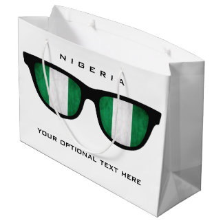 Nigeria Shades custom text & color gift bag