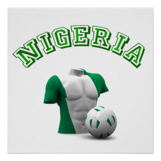 Nigeria soccer bust football gifts and tees posters